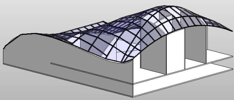 Wand an dach